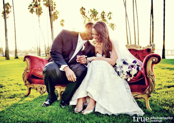 Lace dress from The White Flower Bridal Boutitque in San Diego