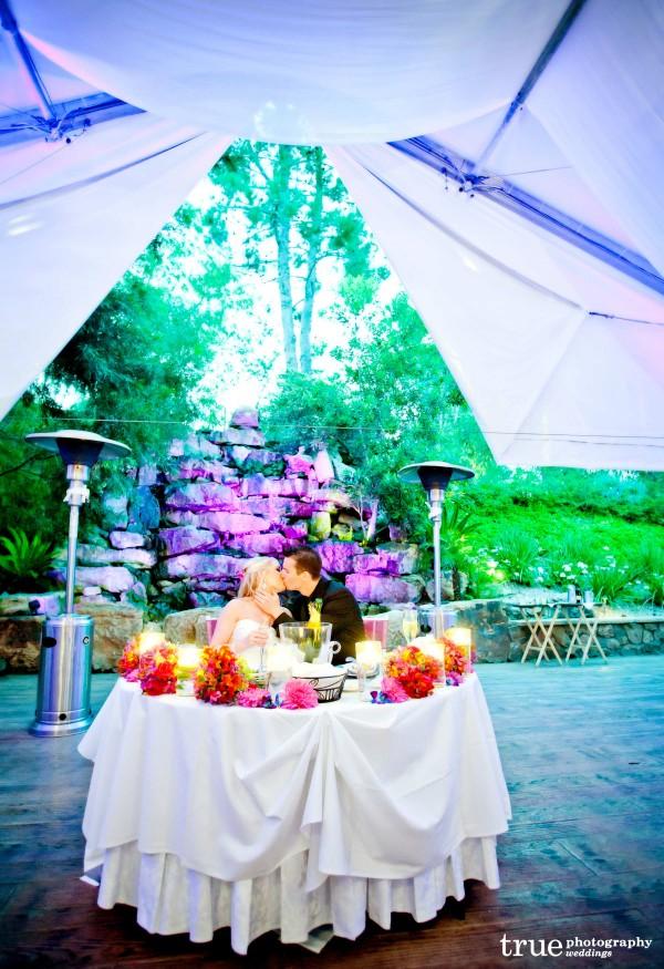 Pala Mesa Resort Wedding with lighting and music by Music Phreek