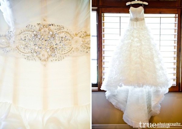 Swarovski encrusted belt for wedding-dress at The White Flower Bridal Boutique