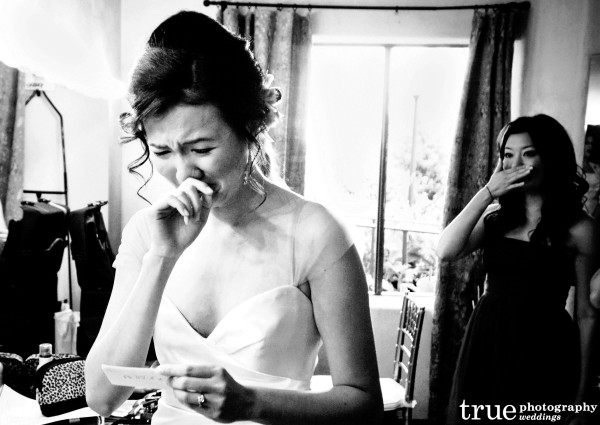 Black and white vs. Color wedding photos by True Photography