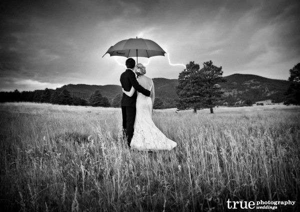 Black and white vs color wedding images by true photography