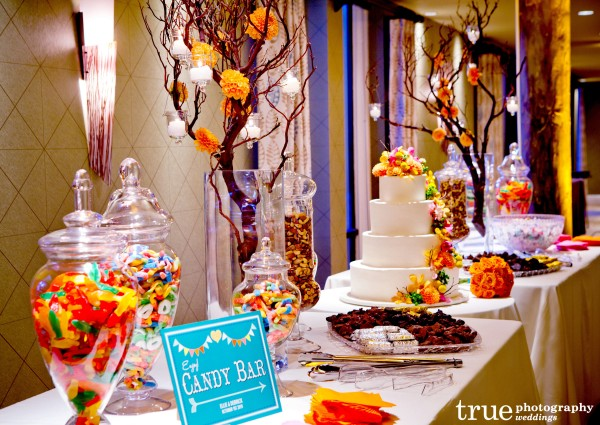Candy Bar at Paradise Point Wedding with Ever After Events