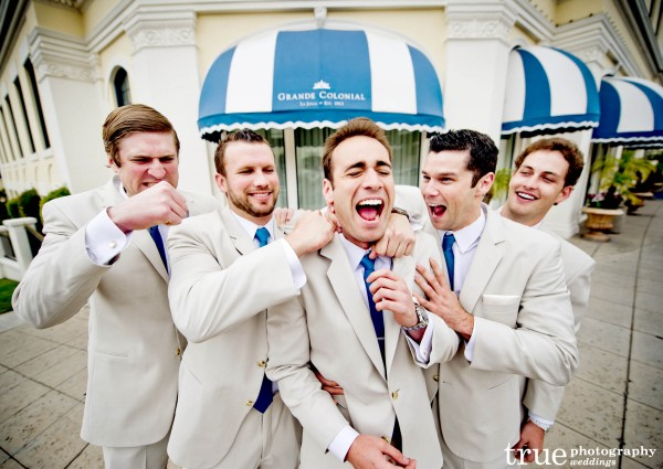 Groomsmen at Wedding at Scripps Seaside Forum with I Do Weddings