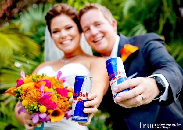 Red Bull Signature Drink at Paradise Point Wedding with Ever After Events