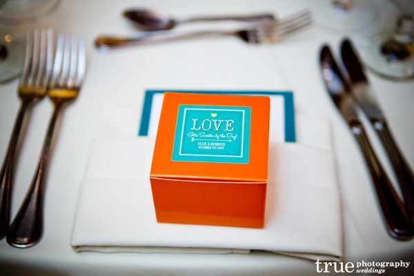Wedding Favors at Paradise Point Wedding with Ever After Events