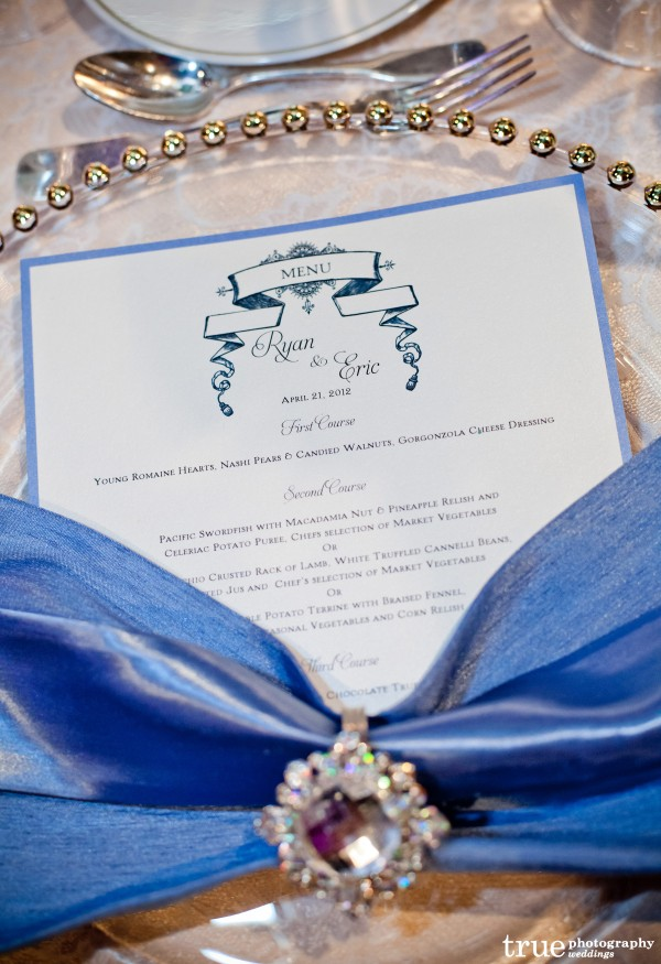 Vintage Wedding Menus by Lavender Paperie