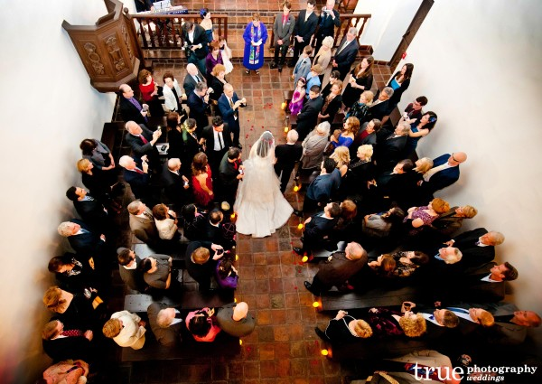 Wedding Ceremony at Saint Francis Chapel in Balboa Park