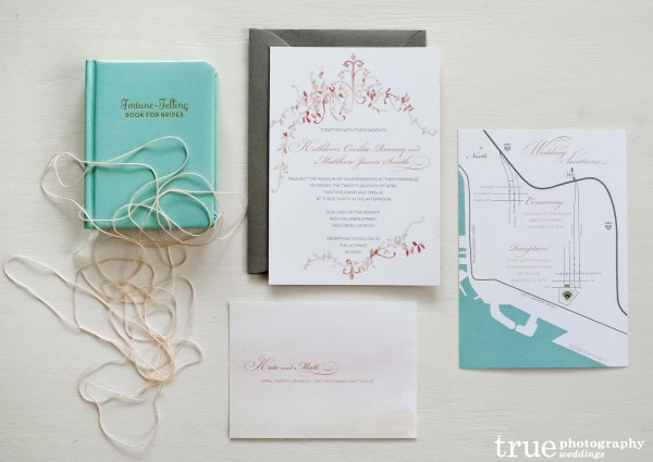 Unique Watercolor Wedding Invitations by Alfie Design