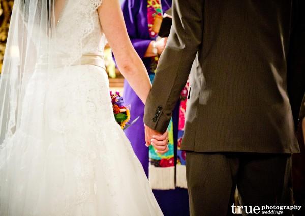 Wedding Ceremony at Saint Francis Chapel in Balboa Park