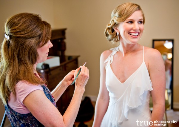 Vintage themed wedding in San Diego with hair and makeup by Paula Mayer Studios