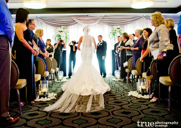 Wedding Ceremony at UNiversity Club Atop Symphony Towers in Downtown San Diego