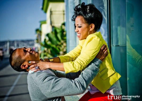 Engagment Photos at Mission Becah by True Photography
