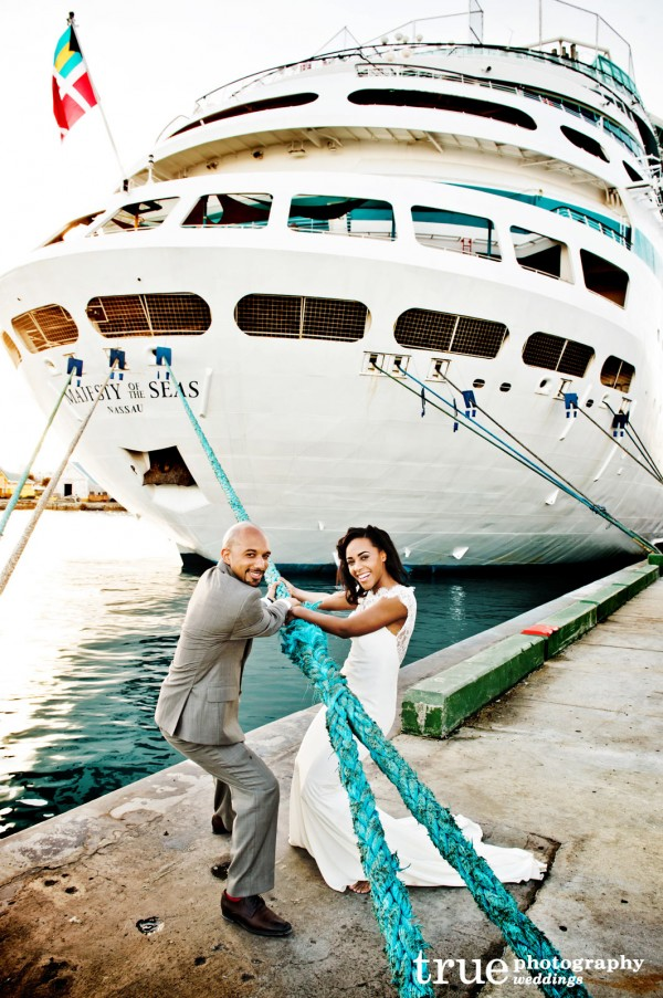 destination wedding on bahamas cruise - Cruise Ship Photographer
