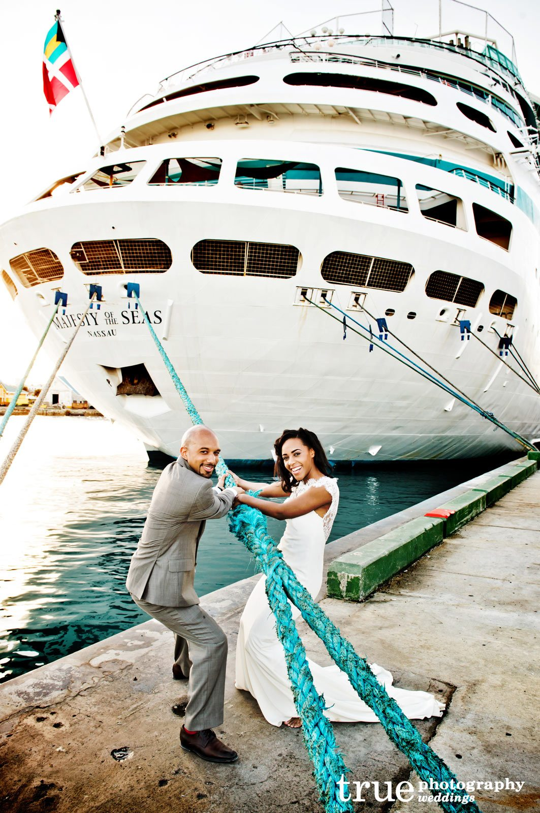 A Destination Wedding On A Cruise To The Bahamas