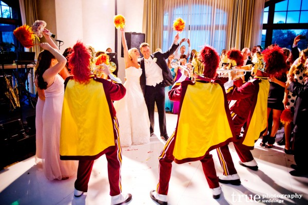 USC-marching-band-at-wedding-