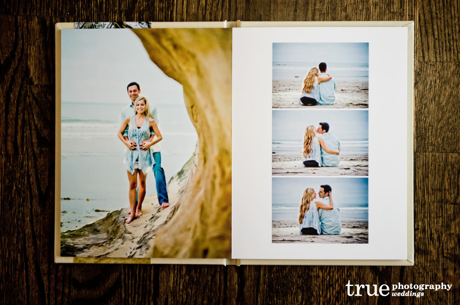 Engagement Photo Book and Signing Guestbook by True Photography ...