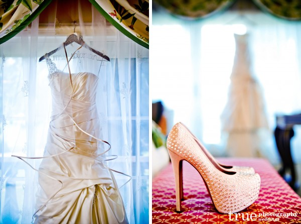 wedding-dress-hanging-shoes