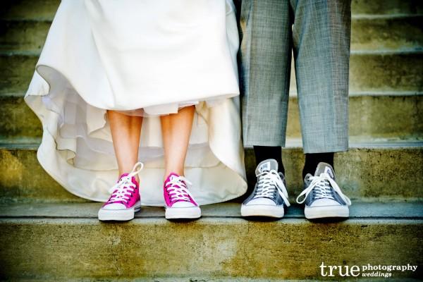 bride-groom-converse wedding shoes