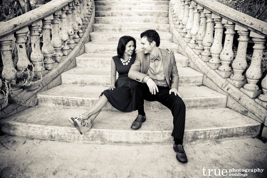 Engagement-shoot-in-San-Diego-on-a-grand-staircase