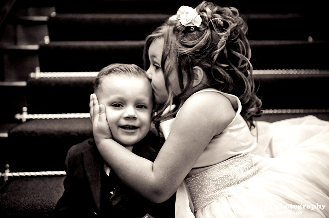 Flower-girl-kissing-ring-bearer
