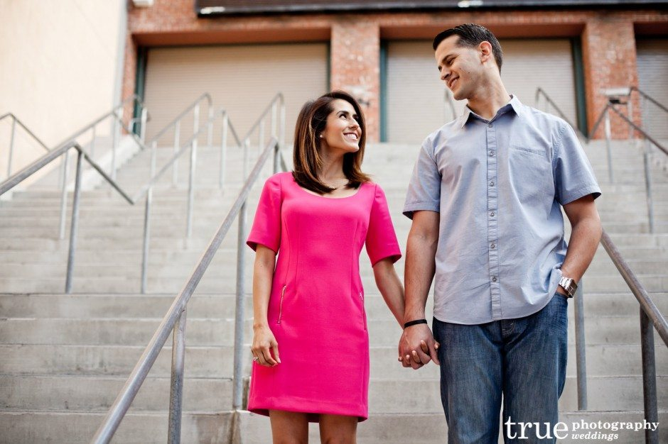San-Diego-Wedding-Engagement-Shoot-at-PETCO-Park