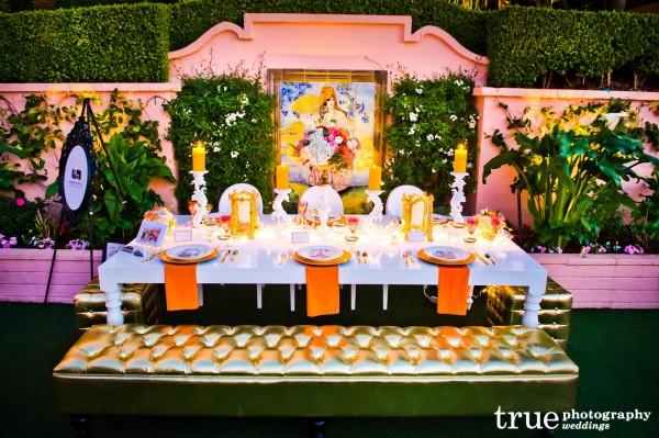 Gold Bench San-Diego-Wedding-Furniture-Rental-Lounge-Appeal