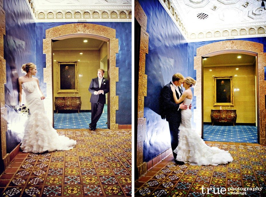 bride-groom-blue-hallway