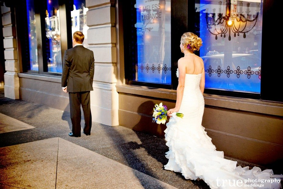 first-look-bride-walking-up