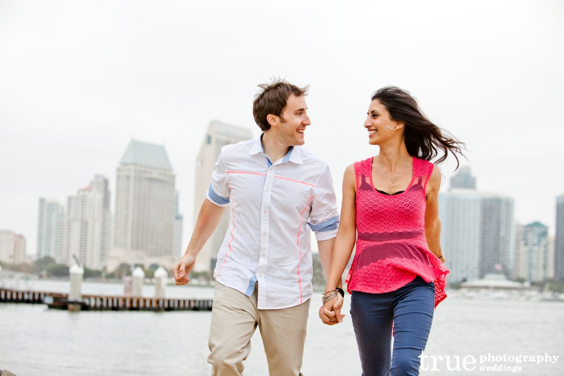 San-Diego-engagement-photo-shoot-with-downtown-background