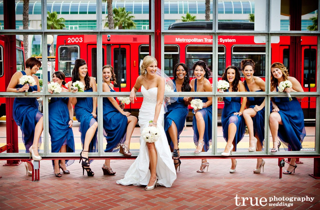 Blue-Bridesmaids-Dresses