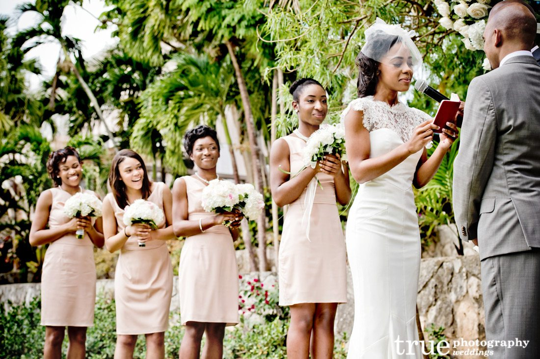 Creme-colored-bridesmaids-dresses