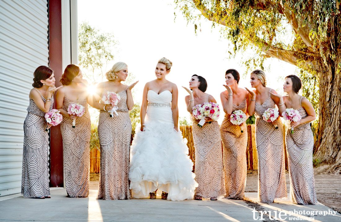Metallic-Bridesmaids-Dresses