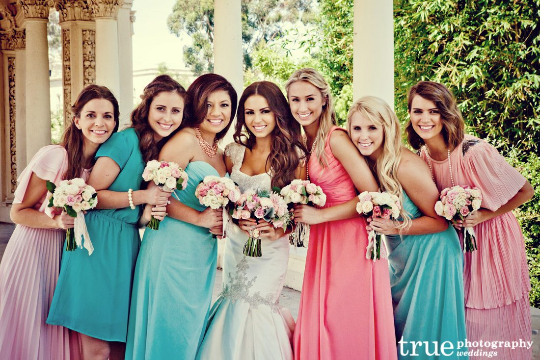 Multi-Colored-Bridesmaids-Dresses