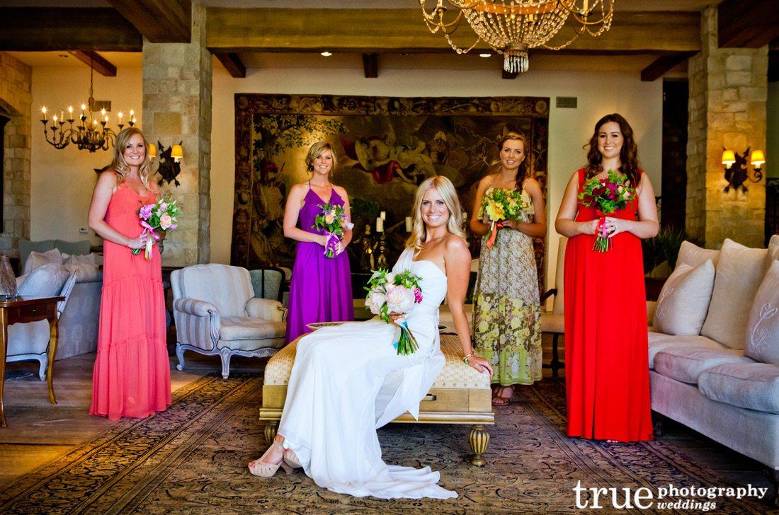Multi-colored-bridesmiads-dresses-