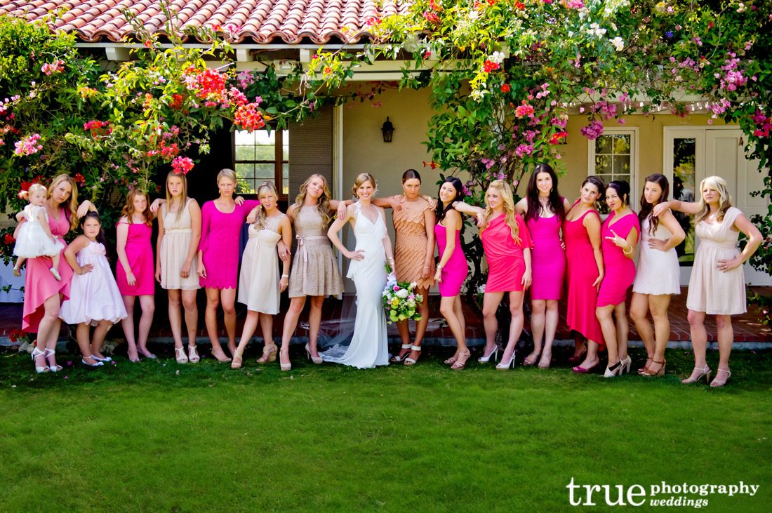Pink-Bridesmaids-Dresses