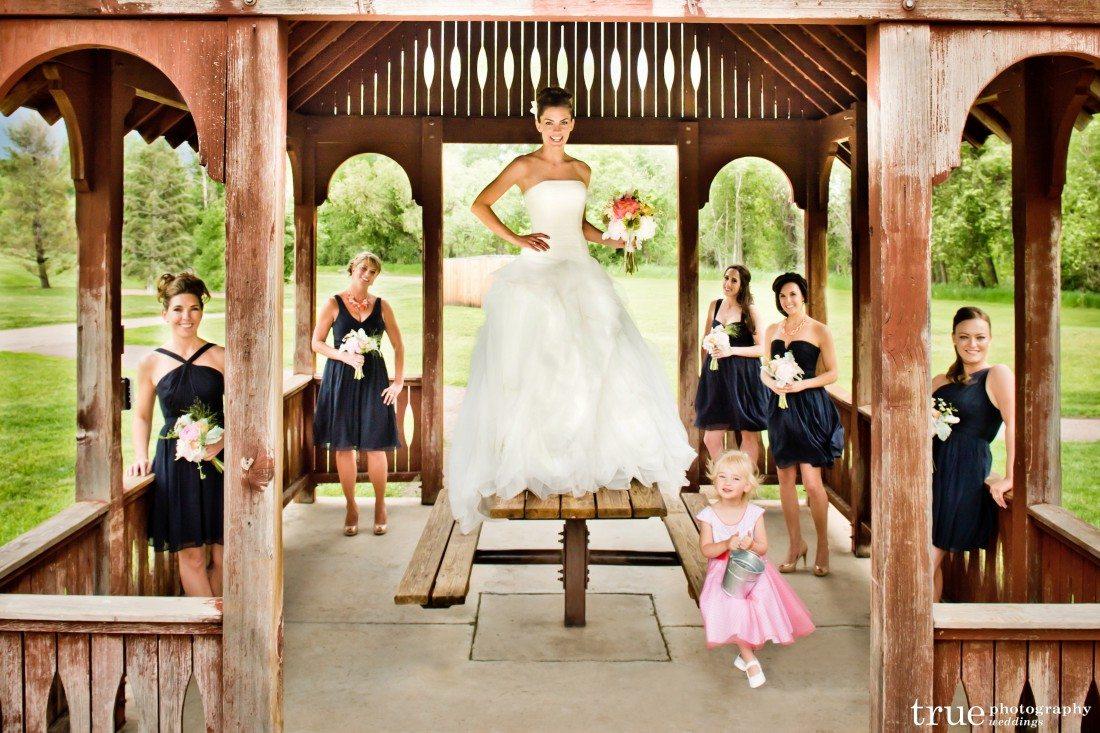 Bride Sandra and her Denver bridal party