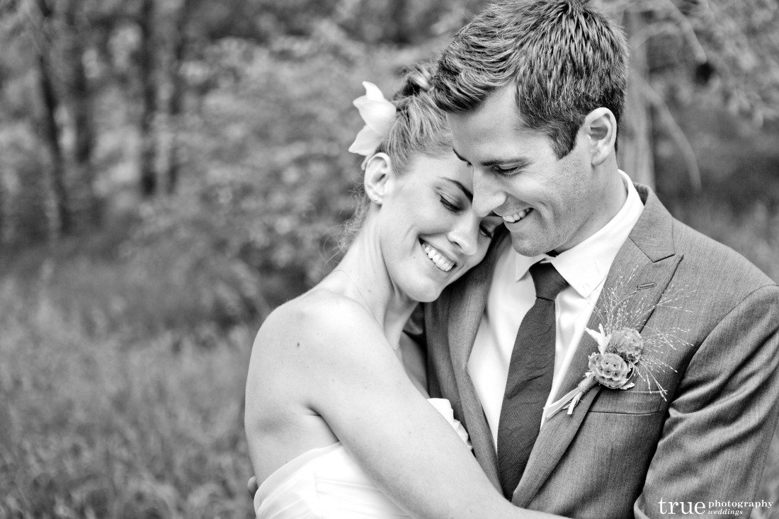 Sandra and Craig b&w photo Denver wedding