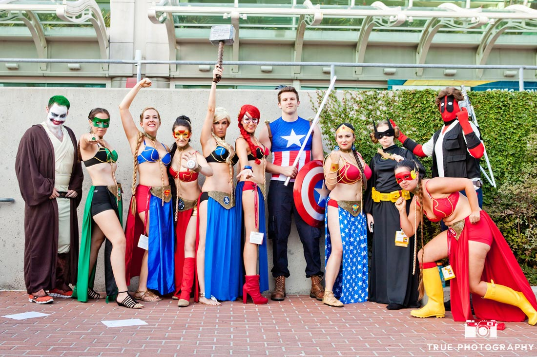 Comic-con 2014 female superhero girls assembled