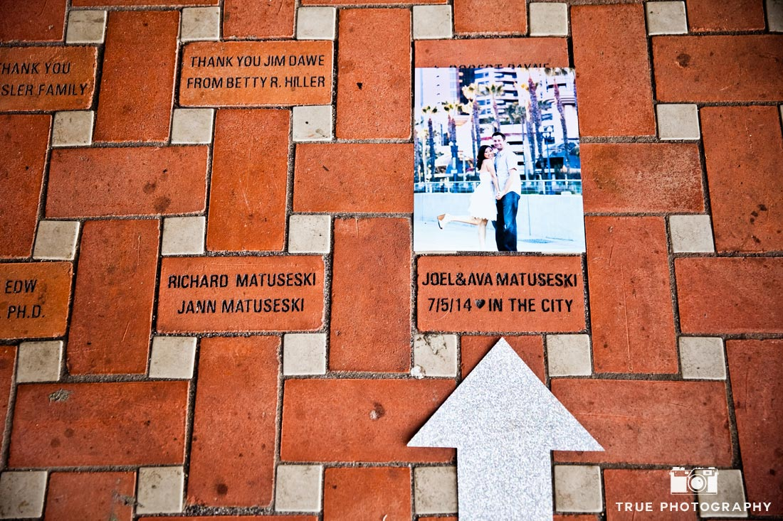 personalized brick San Diego Central Library