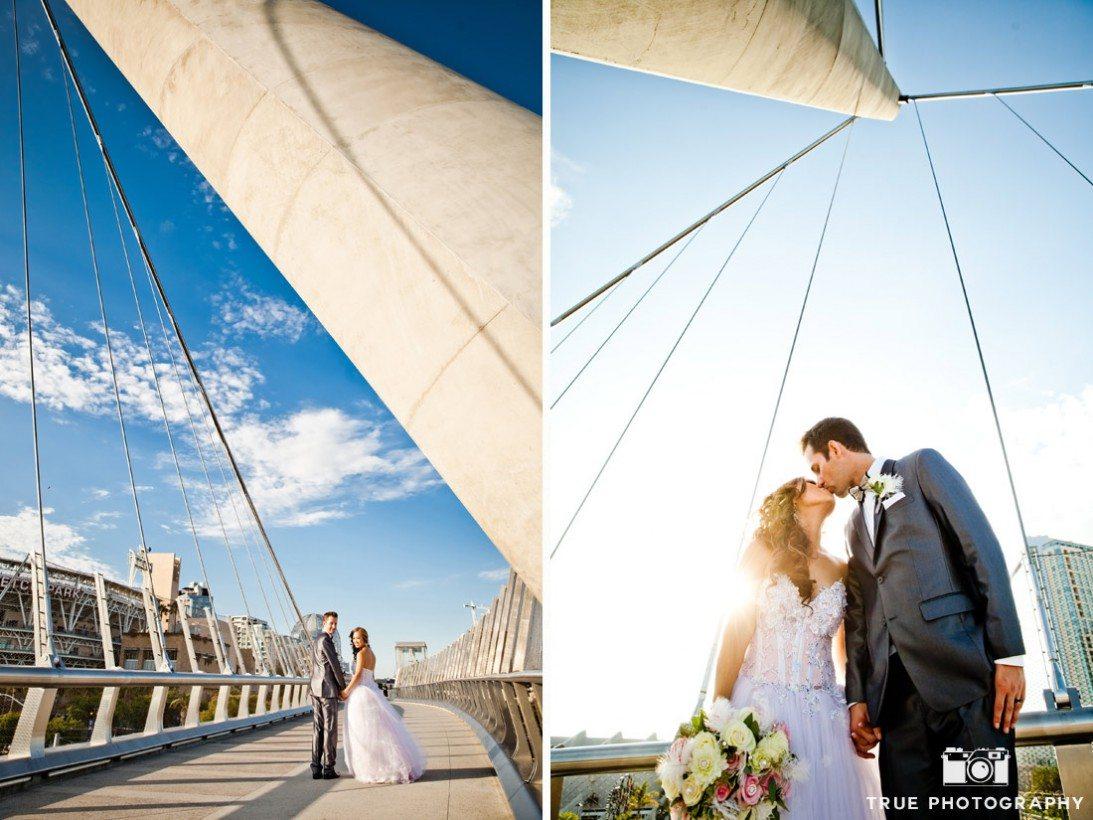Wedding--Central-Library-San-Diego bridge