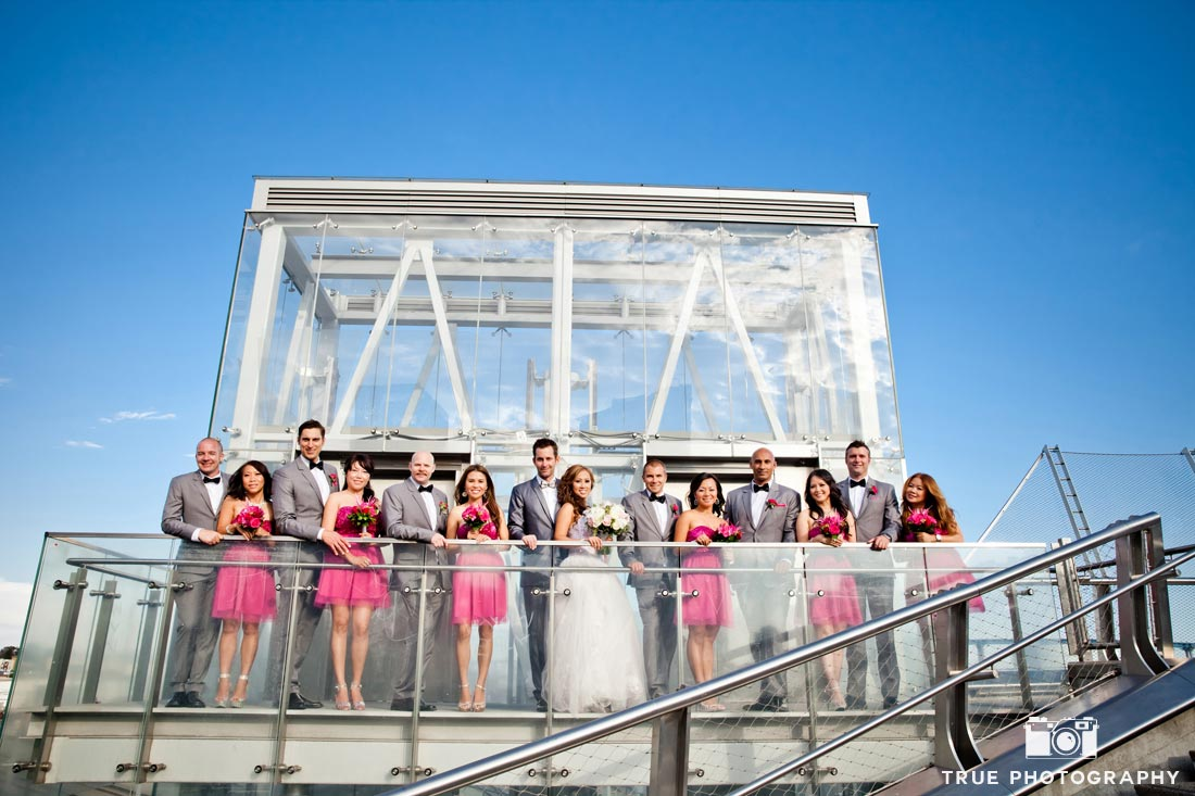 modern pink bridesmaid dresses