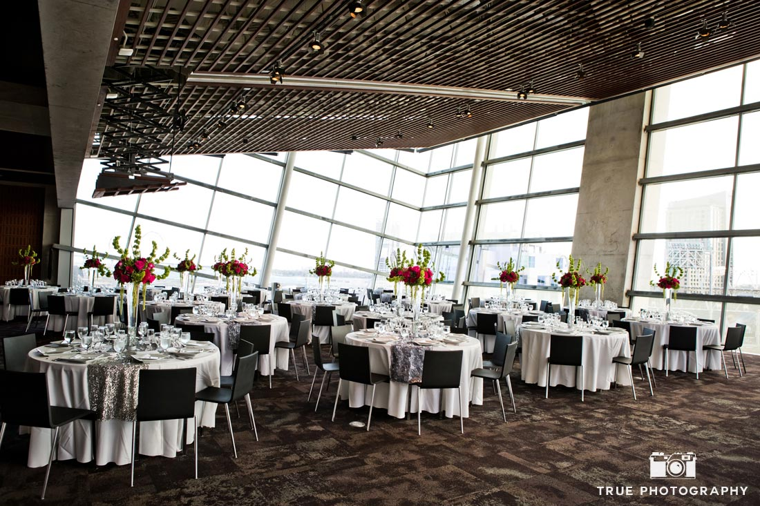 San Diego Central library modern wedding reception