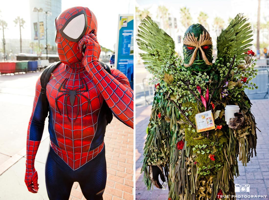 comic-con 2014 spider-man costumes