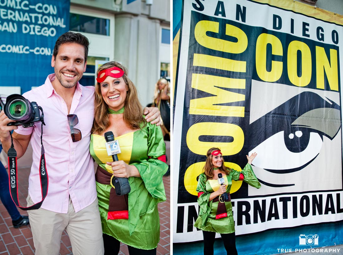 Comic-con 2014 photographer local newscaster teenage mutant ninja turtle