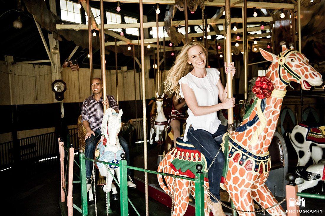 Balboa Park Carousel engagement