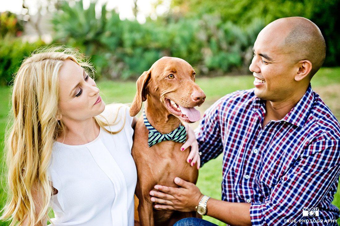 Engagement shoot balboa park with dog