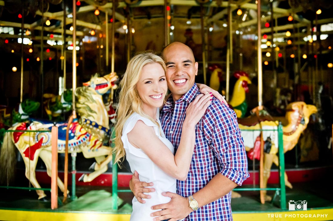 Carousel engagement photo