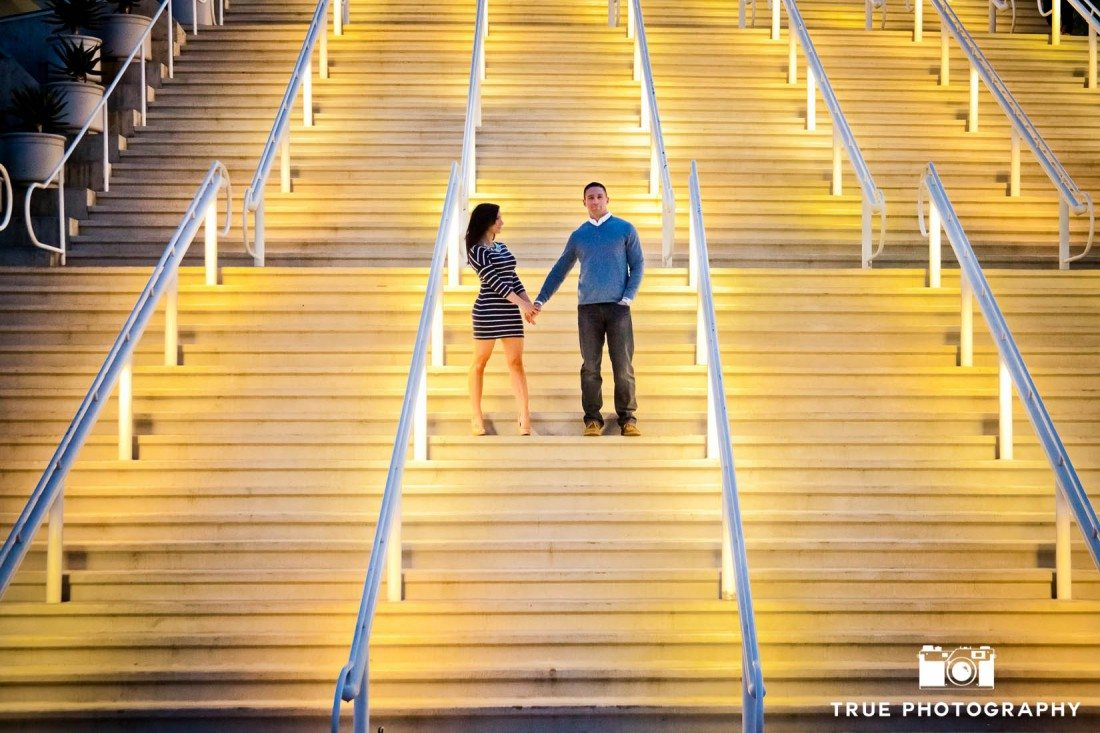 Downtown San Diego engagement photo shoot