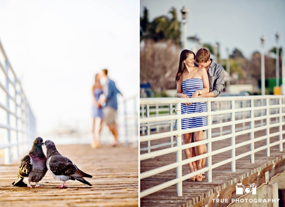 pier at coronado engagement shoot