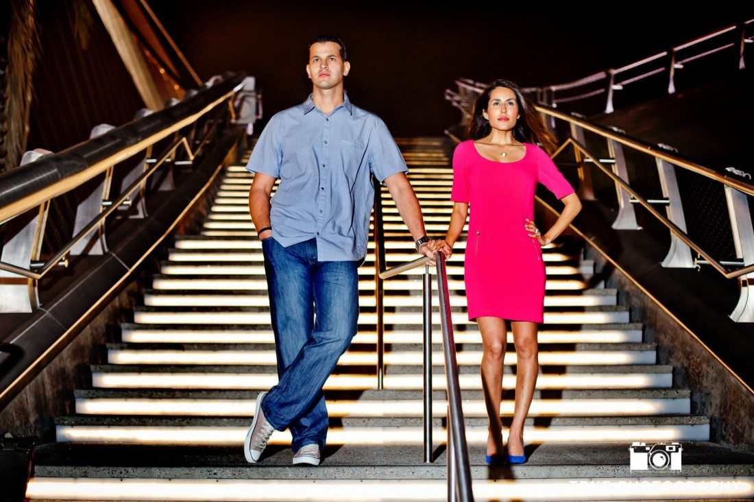 Harbor Drive Pedestrian Bridge stairs photo shoot